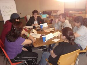 Focus group led by Joan Martin for teens in TPC program